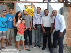 Casa da Ob.� Michelle e Ricardo - Obreiros Enviados Pr. Nelson, Dc. Ivo e Ob. Cleber